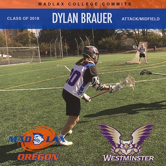 MadLax Player Profile: Dylan's Brauer, Glencoe HS - 2018.  Committed to Westminster University (NCAA DII). Capable of changing directions quickly and being able to hit tough shots on the run, Dylan is an offensive spark plug in the MadLax system. In the classroom, he excels at the sciences and political studies. Fun facts: He loves public speaking and plays Varsity basketball. . . . . . . #gomadlax  #playwithpassion #lax #lacrosse #orlax #portland #pdx #oregonlacrosse #oregon #collegelax #collegelacrosse #ncaa #ncaalax #ncaalacrosse #ualax #underarmour #adidas #adidaslacrosse #adidaslax