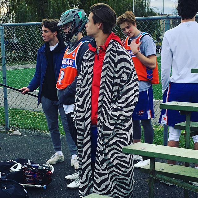 Coming next fall...MadLax team tiger robes. Design hand picked by our very own @johnson__33 Here you can see him modeling the 2017 White Siberian collection. #gomadlax #robegamestrong #swag #playwithpassion #playwithfashion #kidding
