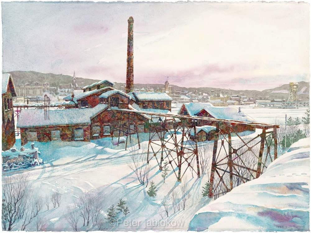 Quincy Smelter in Winter