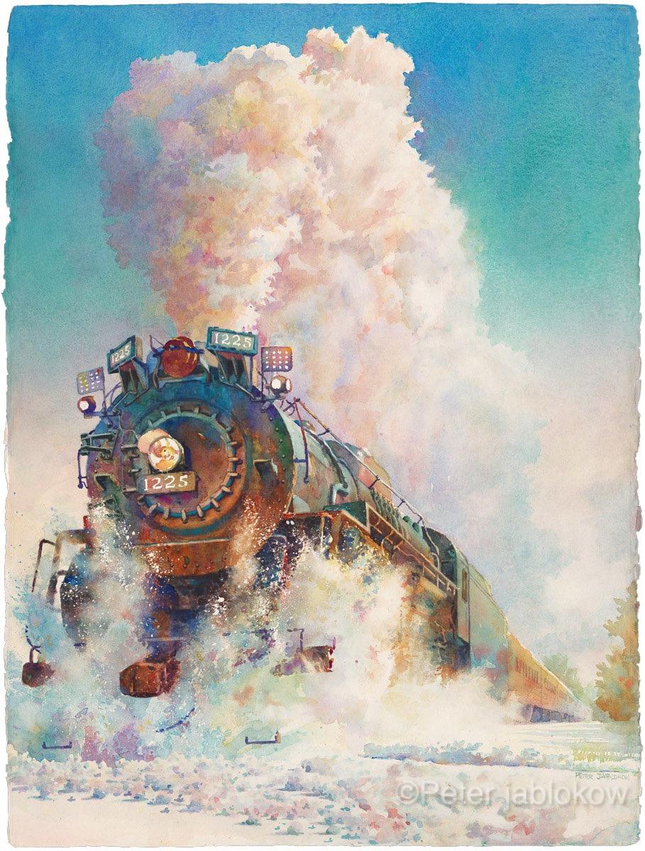 Engine 1225 in Winter