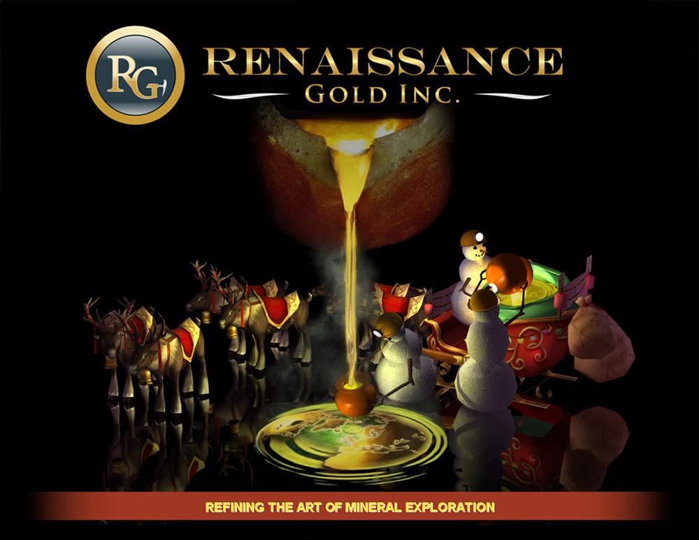 Renaissance Gold Christmas card