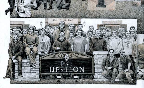 Psi Epsilon collage close-up