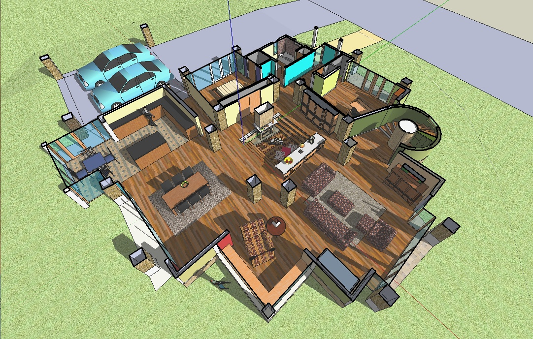 Sketchup house section
