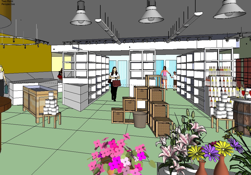 sketchup grocery store design