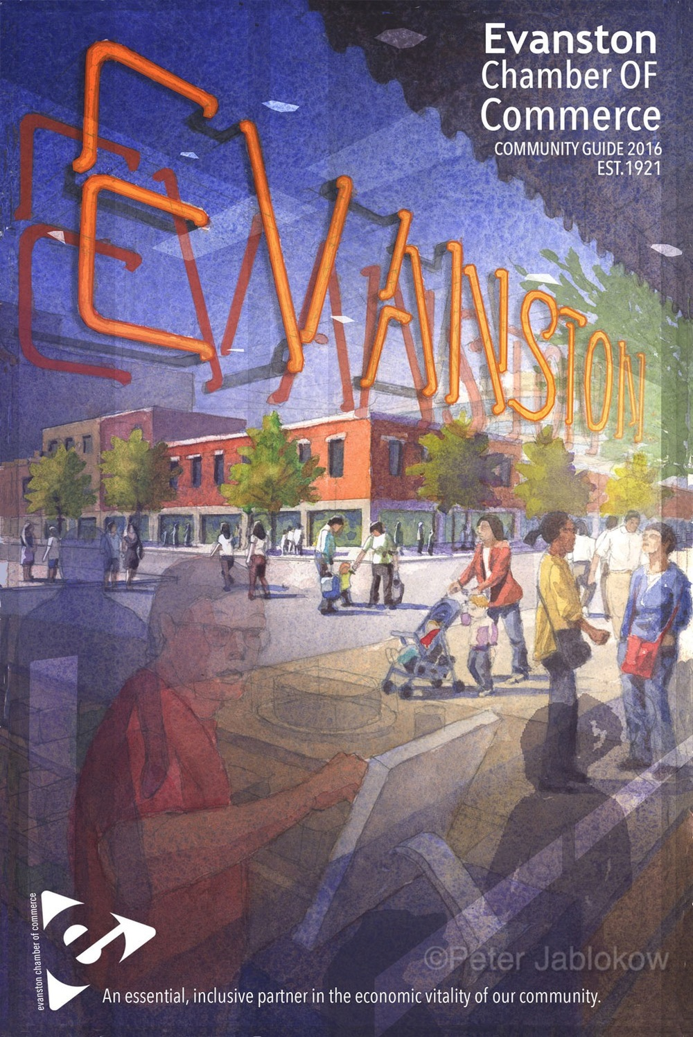 Evanston Chamber of Commerce Community Guide Cover