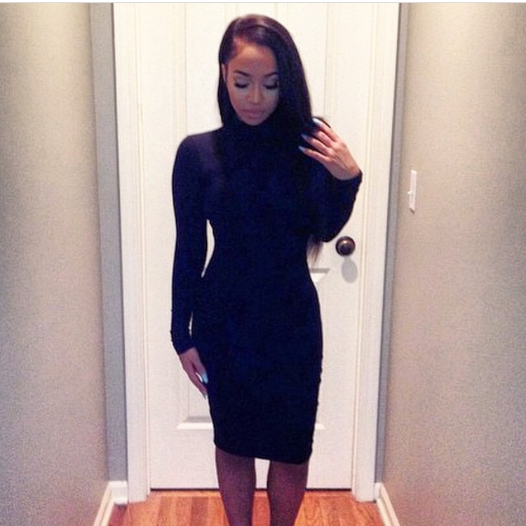 Beauty guru and beauty herself, @liamonet spotted in our 'judy bodycon' dress.