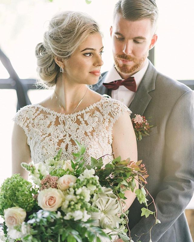 This gorgeous styled shoot is featured in @borrowednblue ❤️🤗! So happy everyone's phenomenal work is being recognized! Such good vibes that day and I'm glad they showed in the photos 🙌🏽! Photo: @karlinvillondophotography | Planning & Design: @dreamdefinedevents @theartfulwander | Hair: @styledbyannafazio | Makeup: @rachellanemakeup | Florals: @taffyfloral | Models: @hamrickm_ @marissaevee | Dress: @bhldn | Rentals: @smthingvintage | Jewelry: @manganjewelers | Menswear: @theblacktux | Stationary: @rebekahdischdesign | Venue: @republicrestoratives