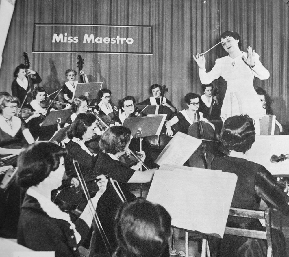 MWSO during a dress rehearsal, publicity shot:  American Magazine