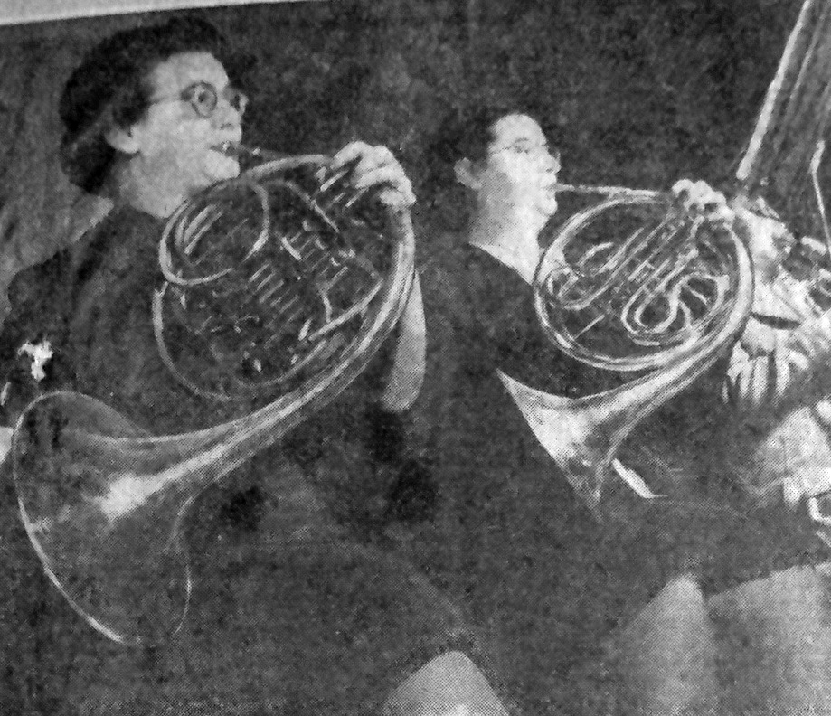 French horns, Sybil Shattner and Michele Noel