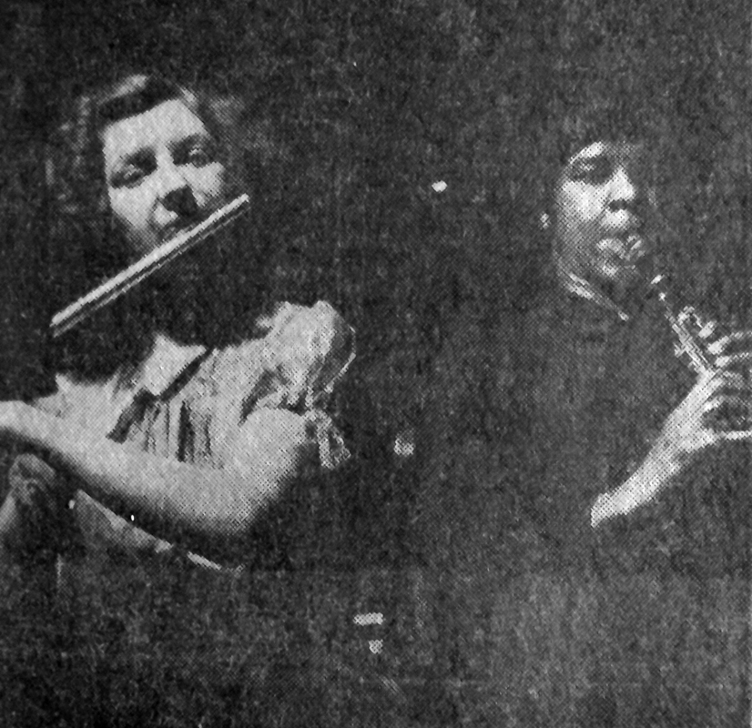 Barbara Cunliffe, MWSO flute and Violet Louise Grant, clarinet player— Violet Louise Grant States