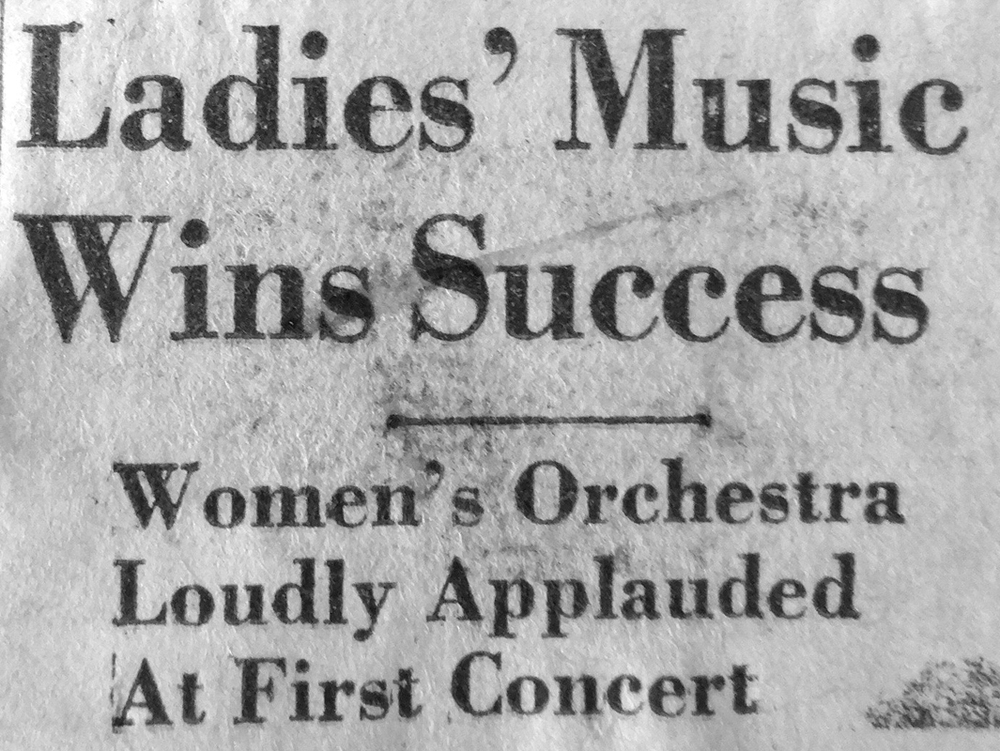 Press reviews of first concert