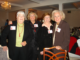 Honorary NEADHVS Members Kate Barker, Suzanne Miller, Mary O'Brien and Barbara Parillo