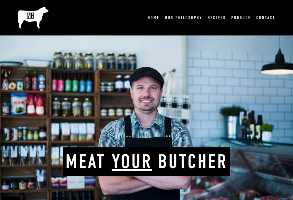 Meat Heath Landing Page