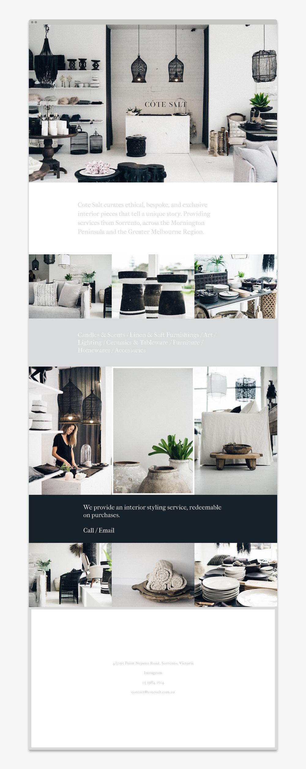 Cote Salt Website Development