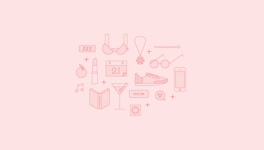 Icons for a women's lifestyle blog.
