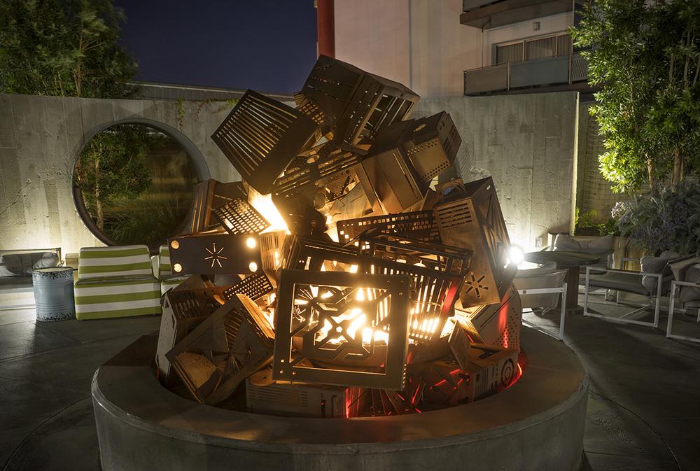 Charles Gadeken art   CRASH   fire vortex