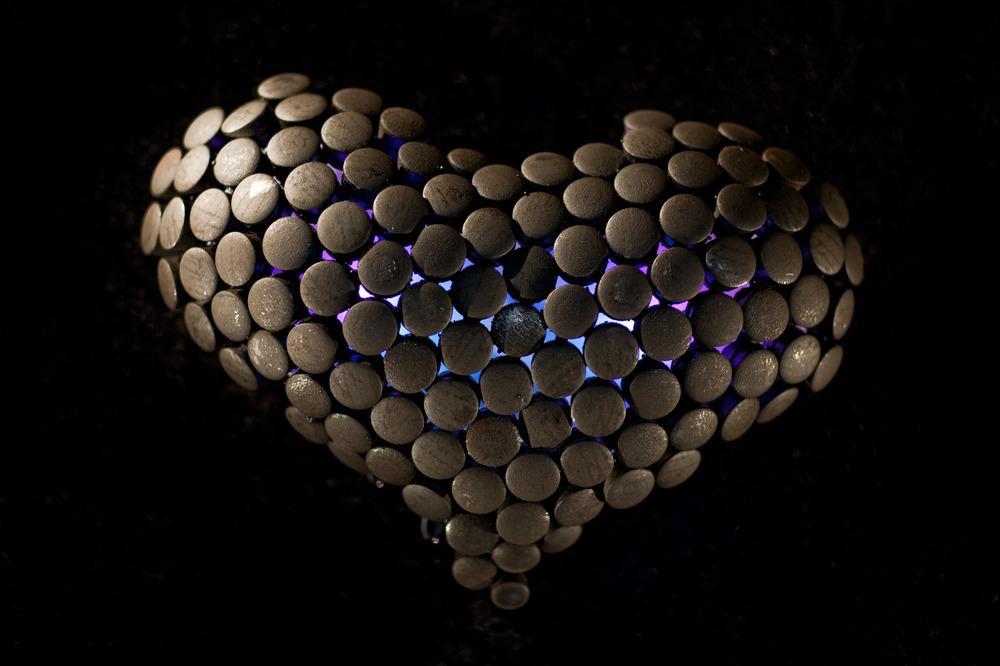 Charles Gadeken art | heart sculptures