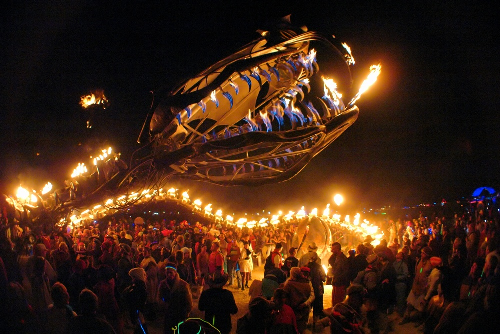 SERPENT MOTHER (2006) at Burning Man. Photo by Tristan Savatier