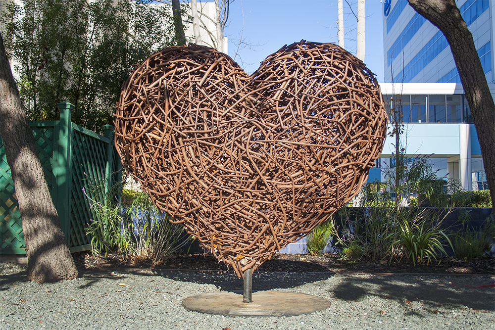 Charles Gadeken art | hearts for SFGH