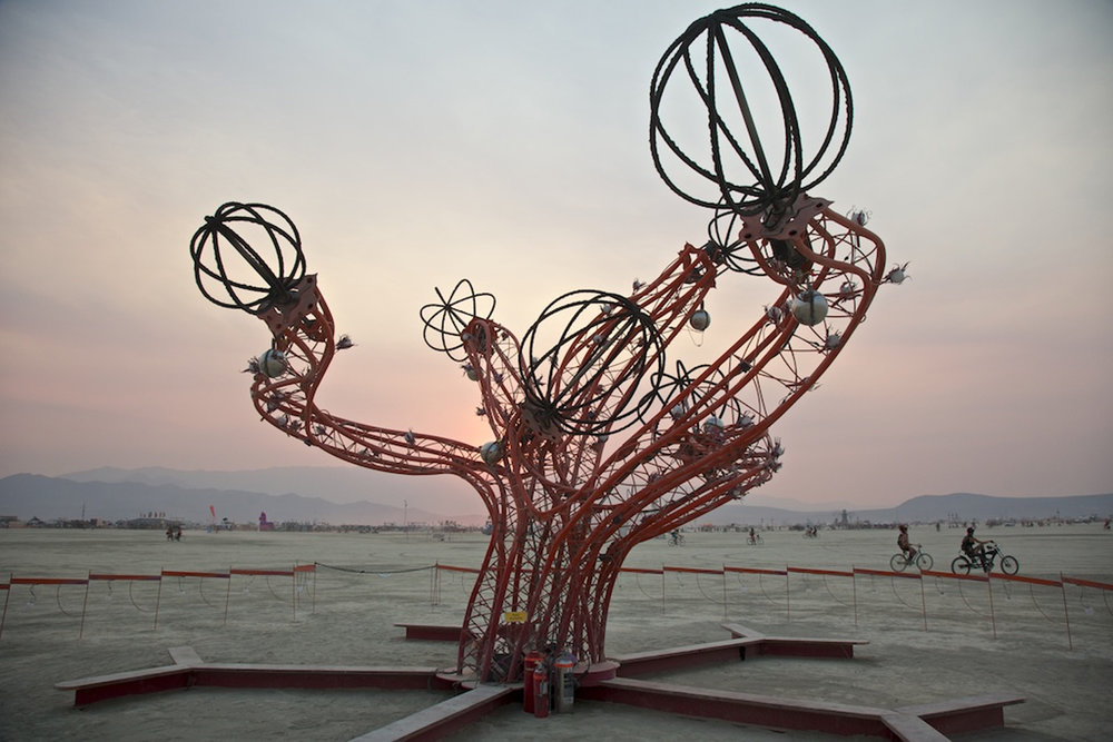 Helix day at Burning Man. Photo by Alan Grinberg