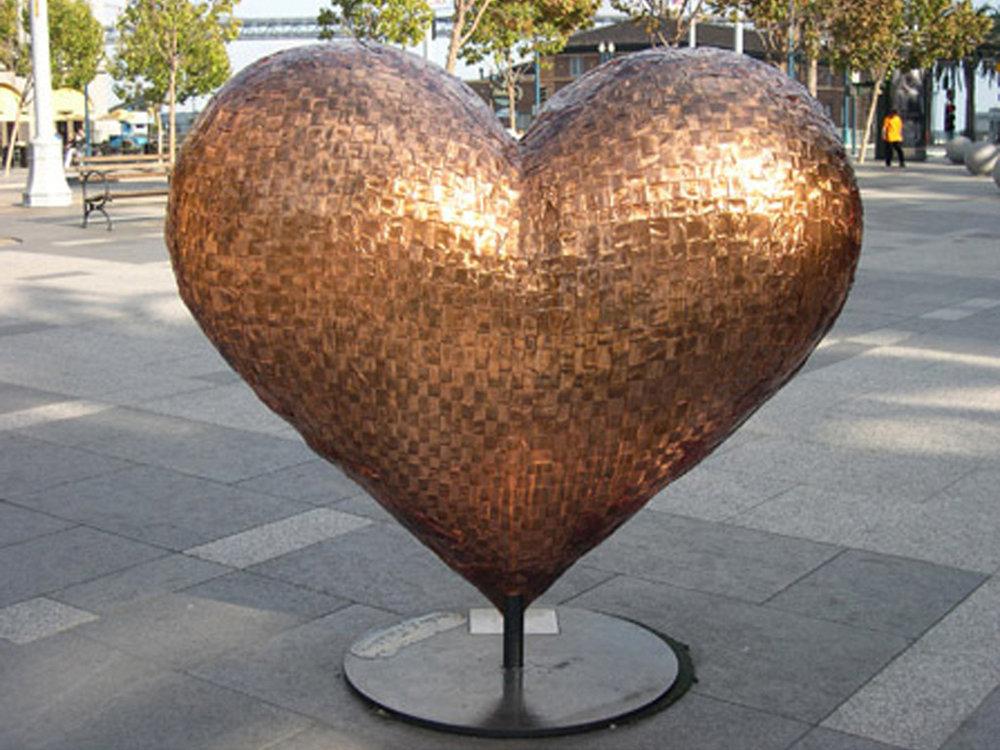 El Corazon (2004) woven copper heart