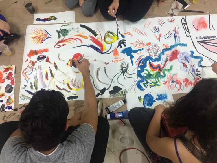 Participatory painting by Luke Fallon