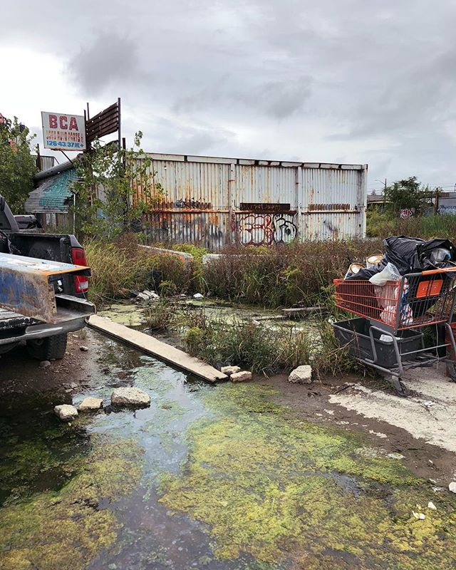 Willets Point on 37th Avenue between 126th and 127th Street...pretty sure this is supposed to be part of the street and sidewalk?