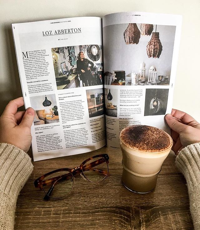 Coffee with a side of 'who did that' and learning more about Loz Abberton in the latest Issue. @whodidthat_official #lumemag 📸 @lucinda.rosey
