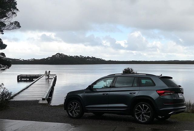 Skimming stones and a fresh ride. The Skoda Kodiaq 4x4 from Neil Bucky Motors sitting pretty near the jetty. #lumemag