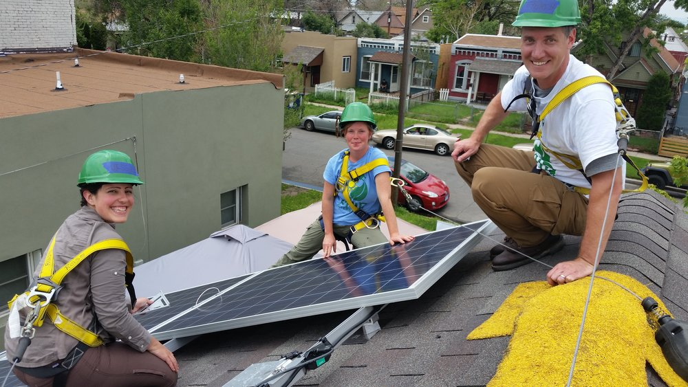 GRID Alternatives residential rooftop PV volunteer project