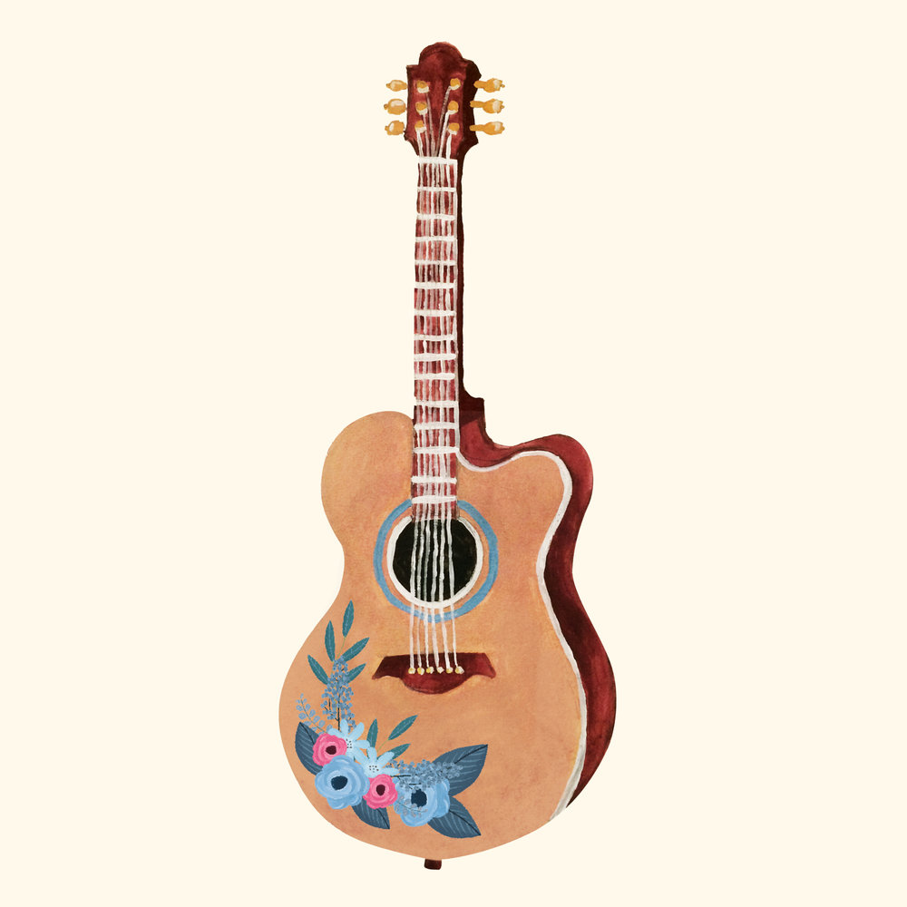 Oberon Lane Guitar Art Wedding