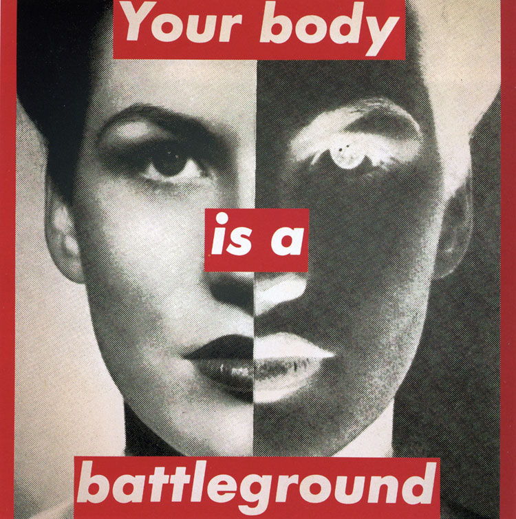 Artwork by Barbara Kruger