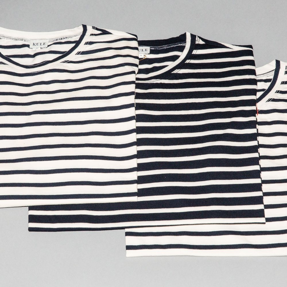 Everyone's wearing Breton stripes. These are the ones we like best. - things we like: kule striped shirts for women and men