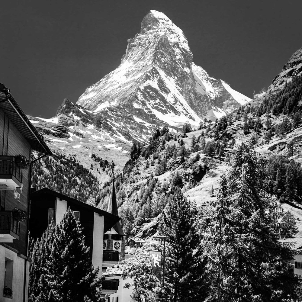 Zermatt, and the whole Swiss mountain experience is fantastic. - travel: standing in a swiss village at 5,000 feet