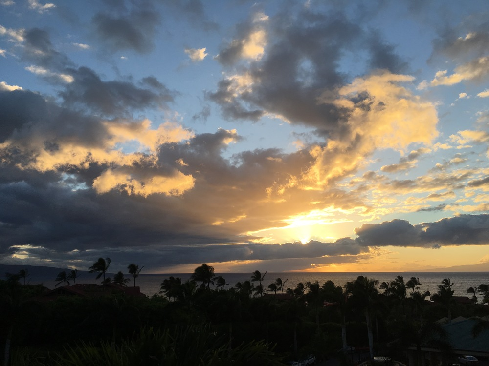 Maui sunset from our room