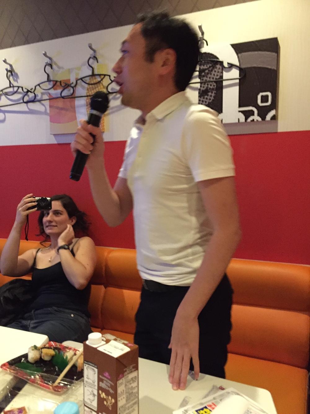 Karaoke with our motley crew