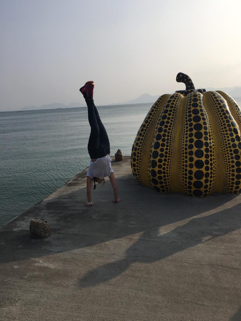Handstands + Pumpkin