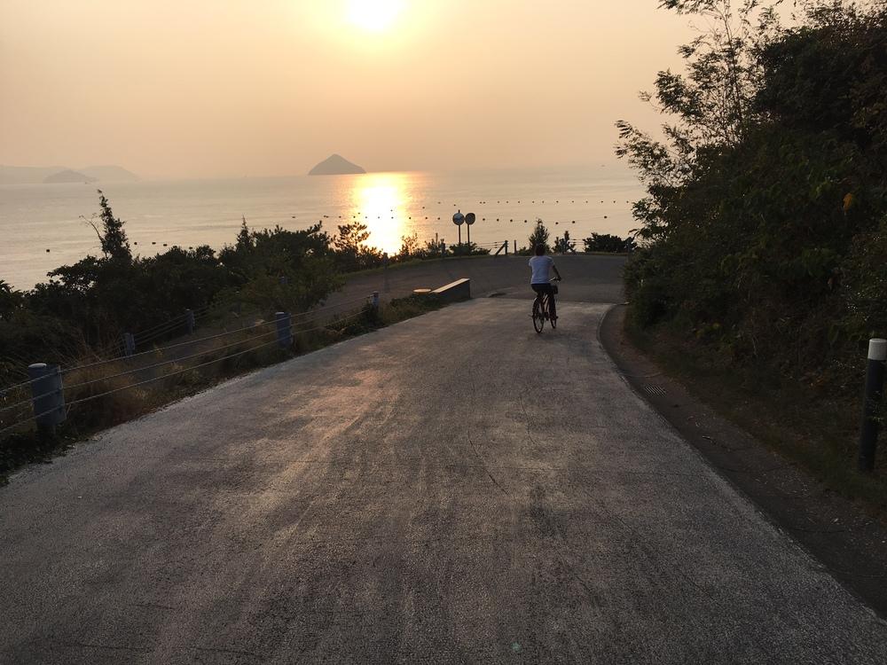 Biking around Naoshima