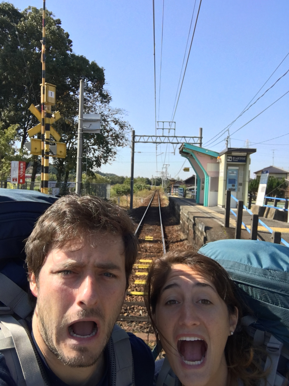 ZOMG we're on the train tracks!