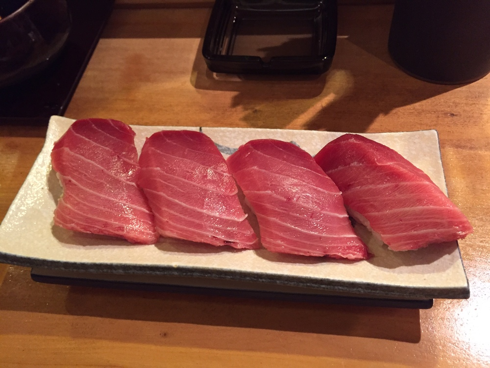 GIANT toro sushi. AMAZING.