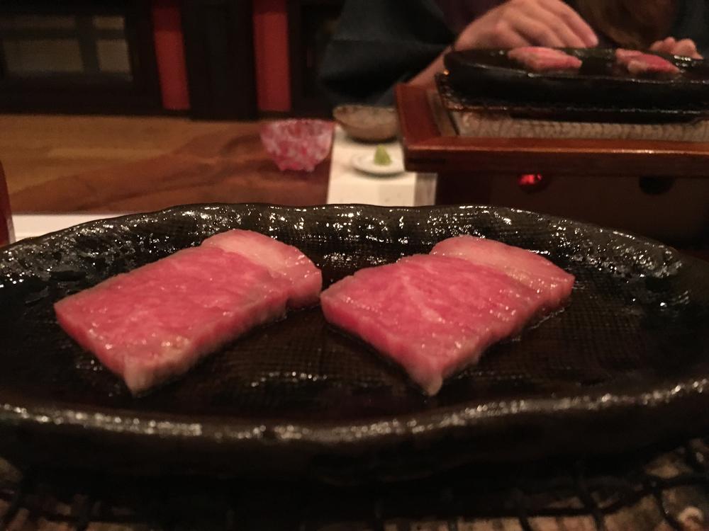 Kaiseki - hida beef!