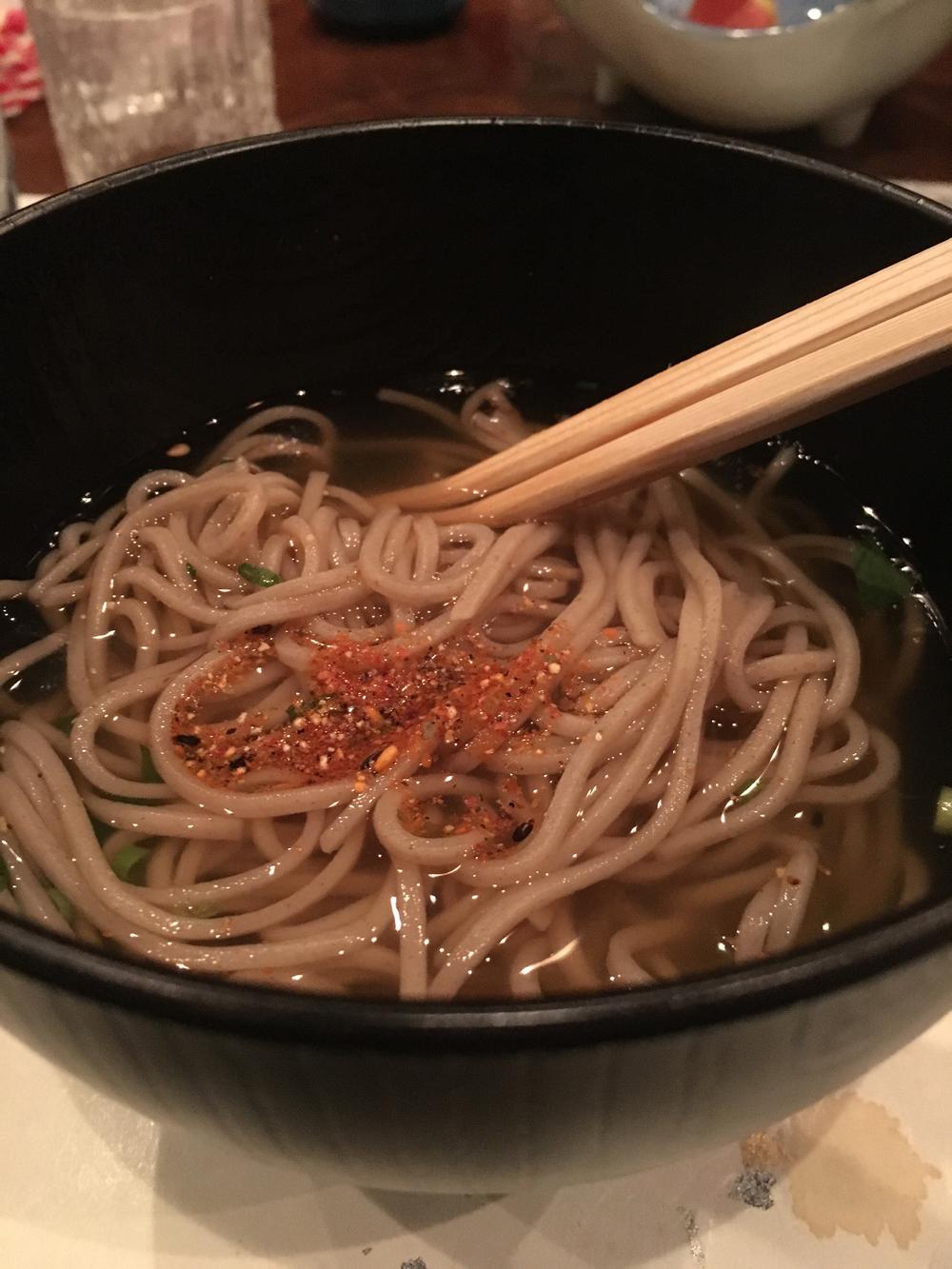 Kaiseki - hot soba