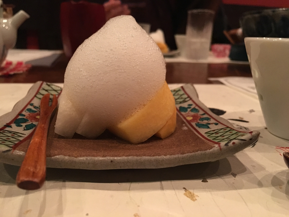 Kaiseki - fruit and sugar foam