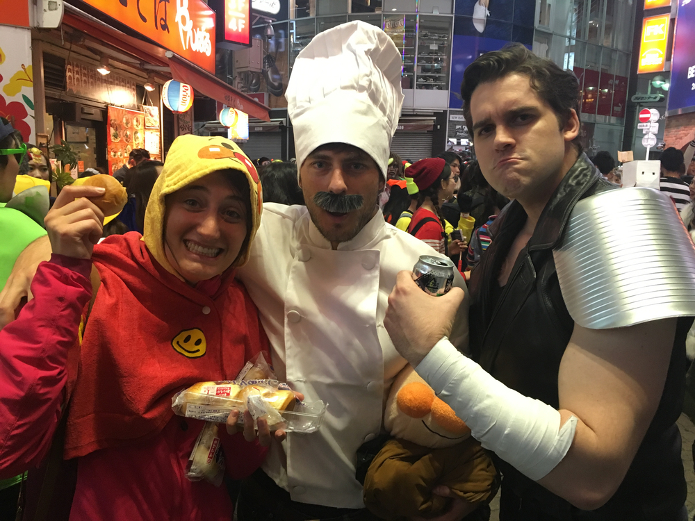 Anpanman, Uncle Jam, and Josh's anime character who we forgot