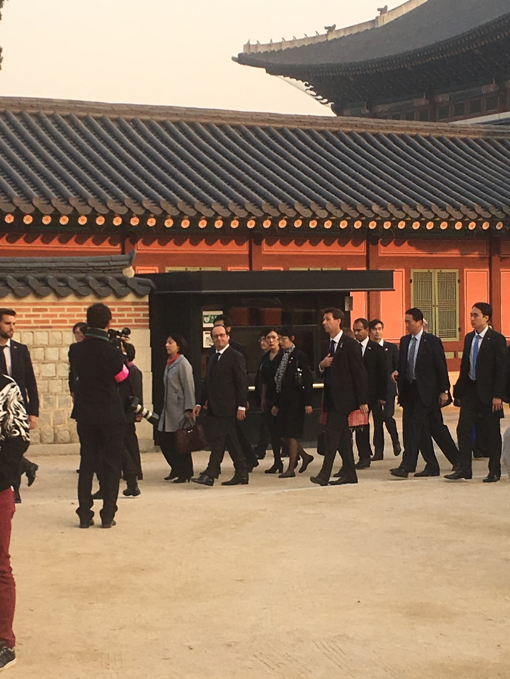 Francois Hollande at Gyeongbokgung palace