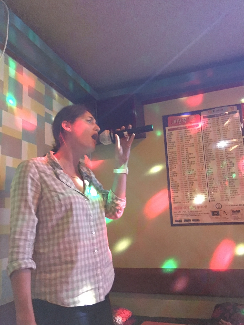 Karaoke audience of one
