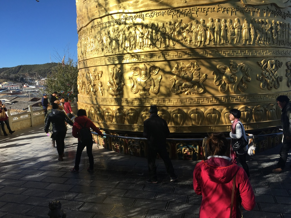 World's largest prayer wheel at Guishan Park