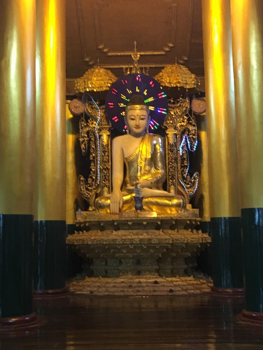 LED lights at Shwedagon Pagoda