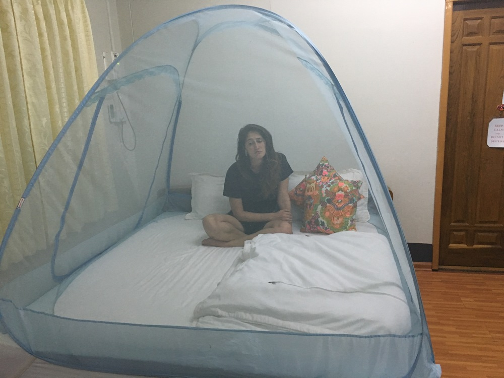 Little mosquito net tent bed!