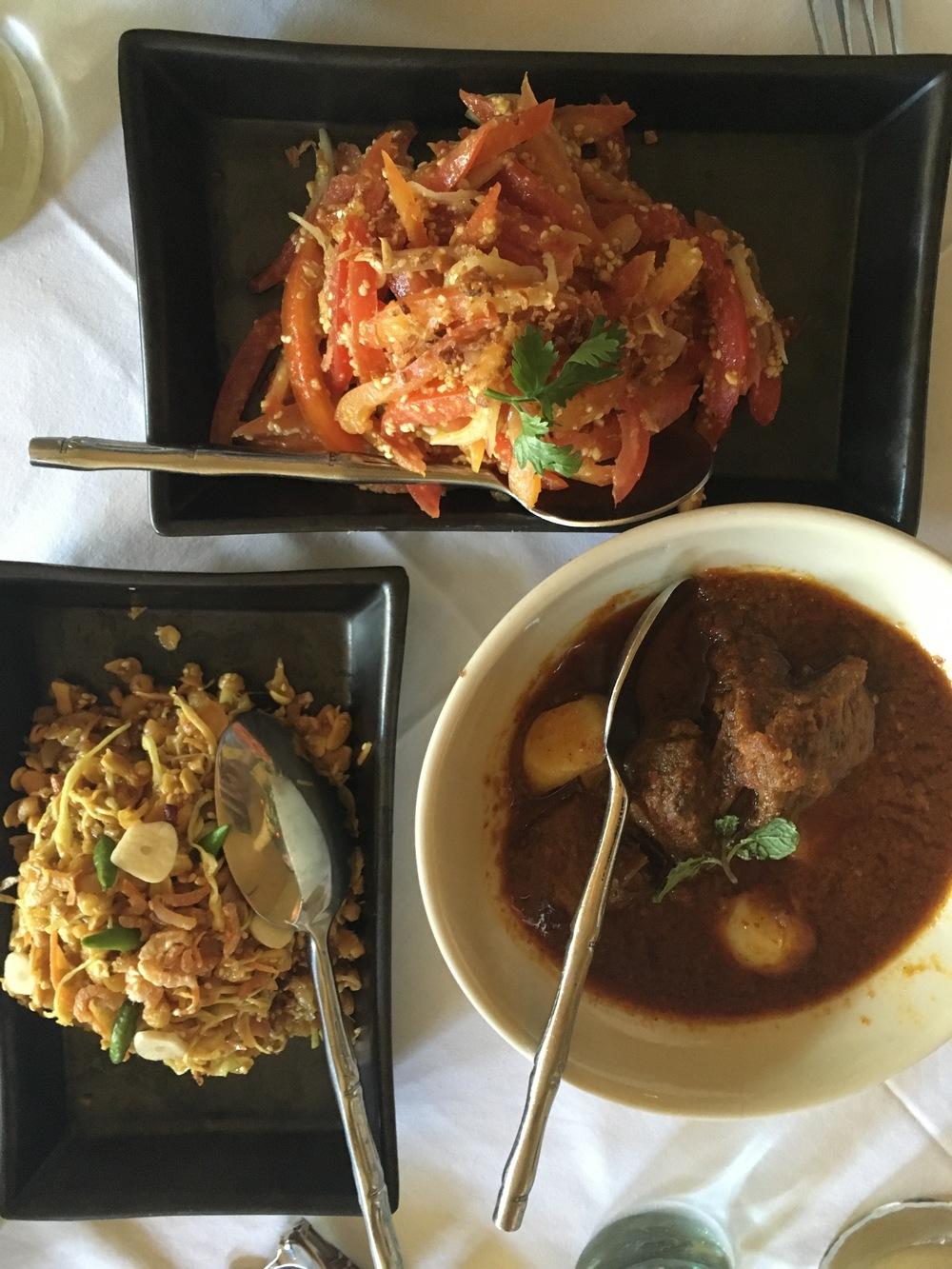 Burmese food at Monsoon